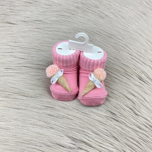 Dondurma Temalı Çorap - Pembe