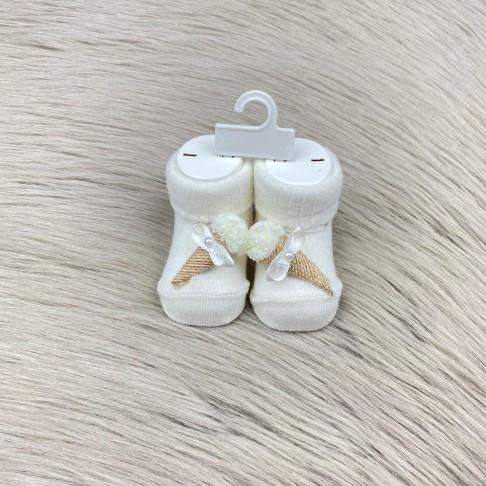 Dondurma Temalı Çorap - Beyaz