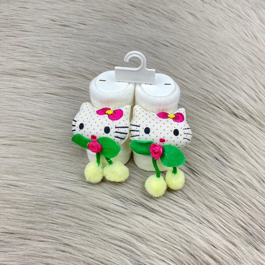 Hello Kitty Temalı Çorap - Beyaz