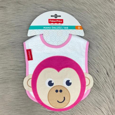 Maymun Temalı Mama Önlüğü - Pembe