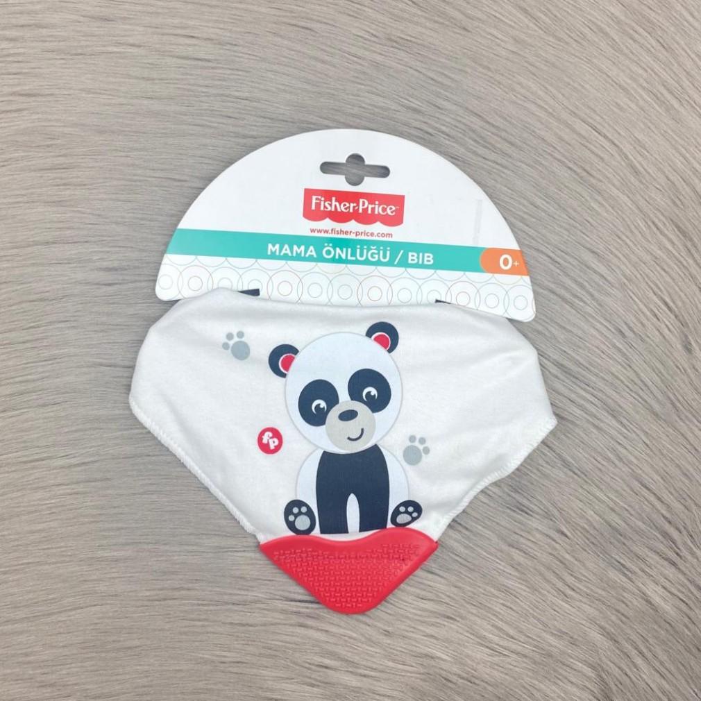Panda Fular Diş Kaşımalı Mama Önlüğü - Beyaz