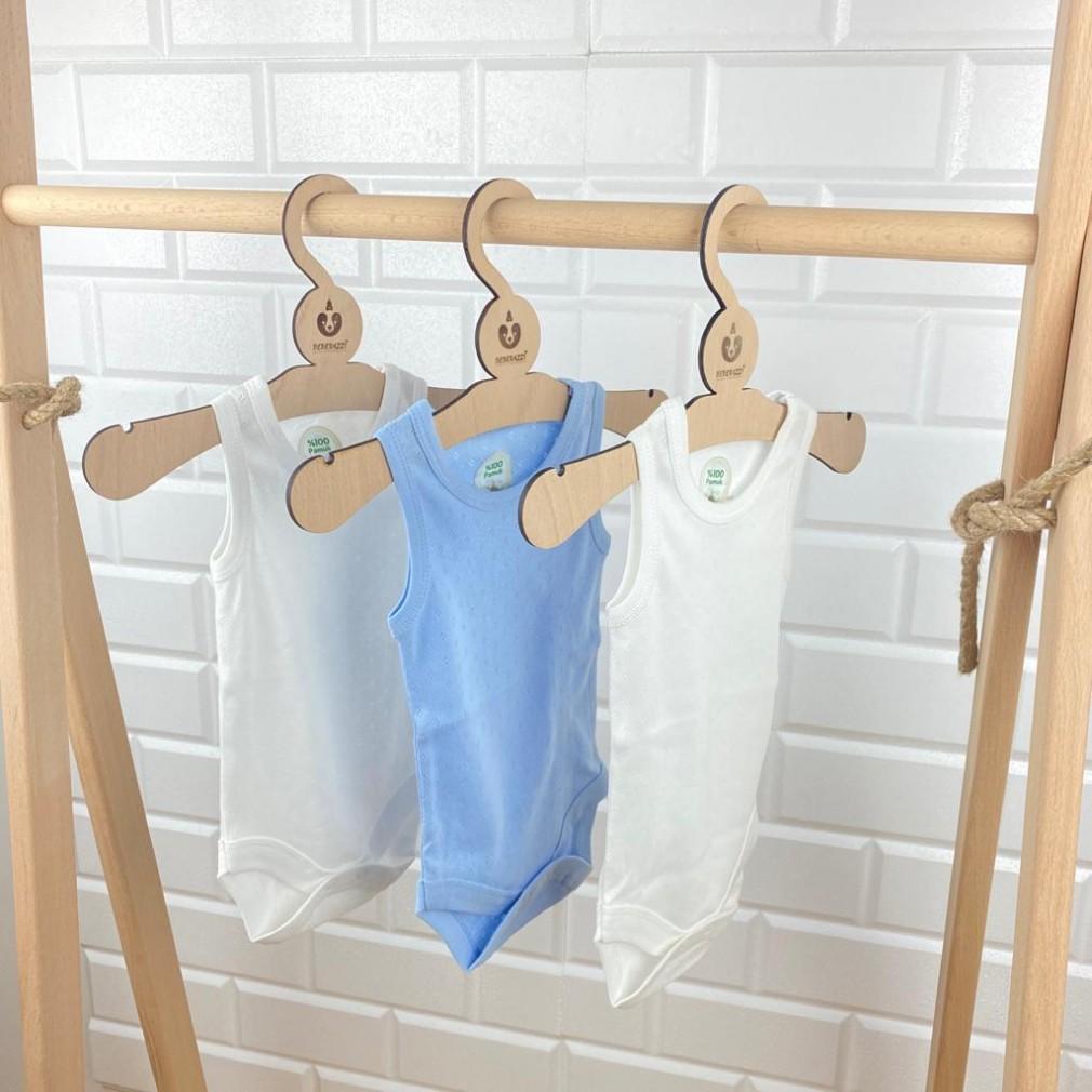 Üçlü Body Kombin - Mavi