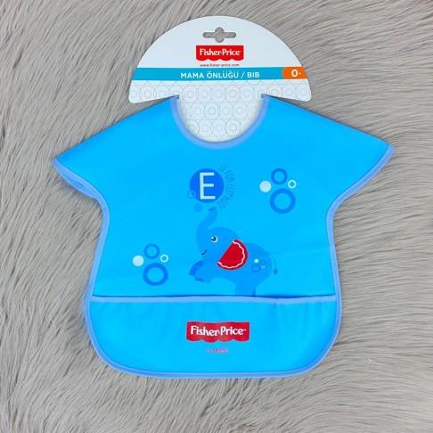 Fil Temalı Cepli Mama Önlüğü - Mavi