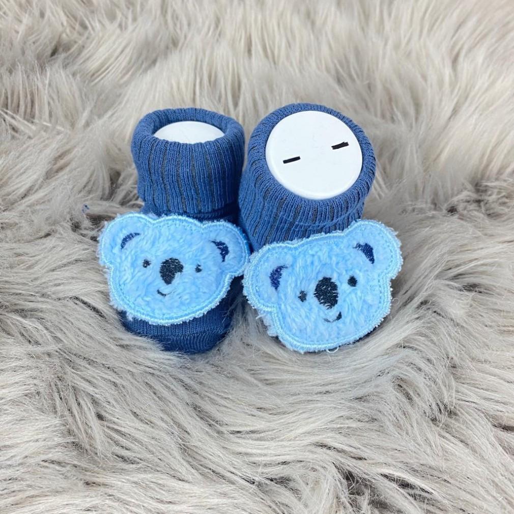 Gülen Yüz Temalı Çorap - Mavi
