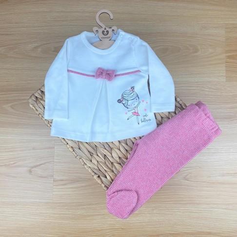 Sweathshirt Patikli Alt İkili Takım - Pembe