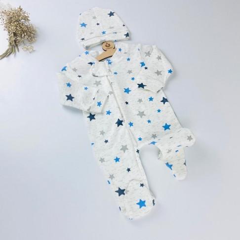 Yıldız Temalı Tulum - Mavi