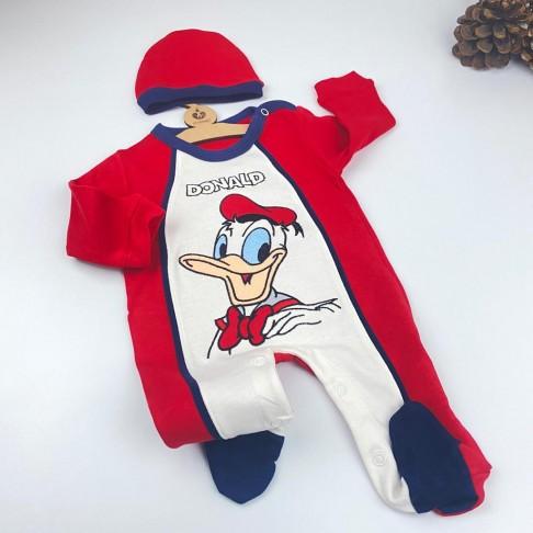 Donald Duck Temalı Tulum - Kırmızı