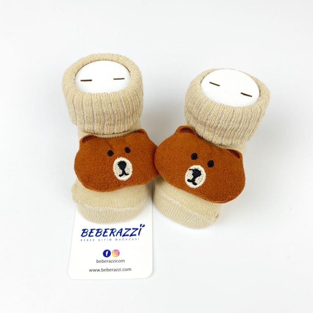 Koca Yanak Ayı Çorap - Kahverengi