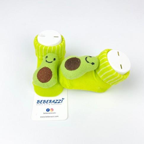 Avokado Temalı Çorap - Yeşil