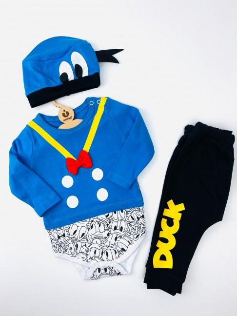Duck Temalı Üçlü Takım - Mavi