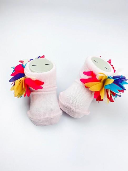 Karışık Renkli Çorap - Pembe
